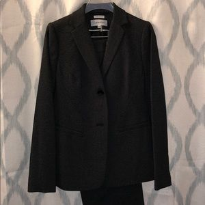Calvin Klein heathered gray suit (jacket + pants)